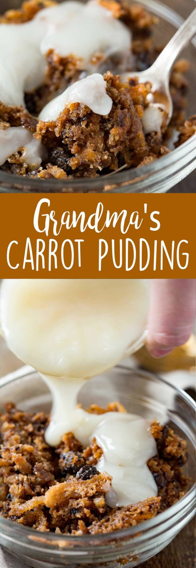 Classic carrot pudding like your grandma used to make
