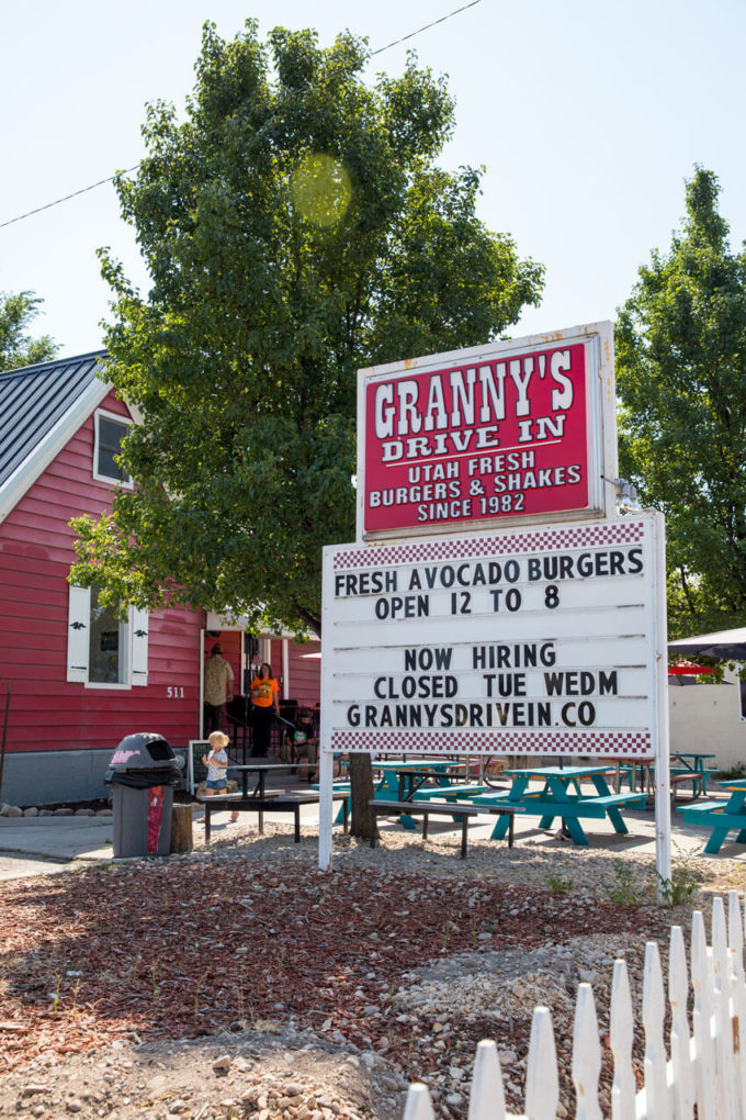Granny's Drive In Shakes in Heber for our UT staycation