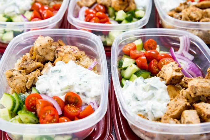 Meal Prep Bowls with Greek Marinated Chicken