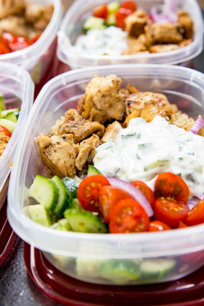 Greek chicken bowls meal prep easy easy peasy meals greek chicken recipe insanely delicious greek chicken bowl recipes greek marinated chicken cucumber forumfinder Gallery