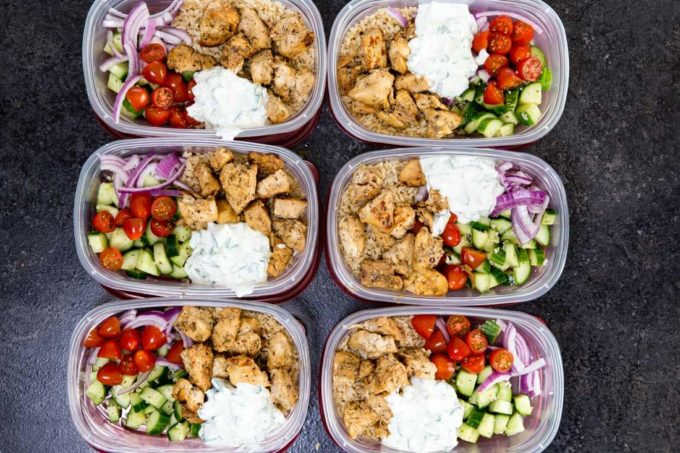 greek chicken bowls meal prep easy   easy peasy meals