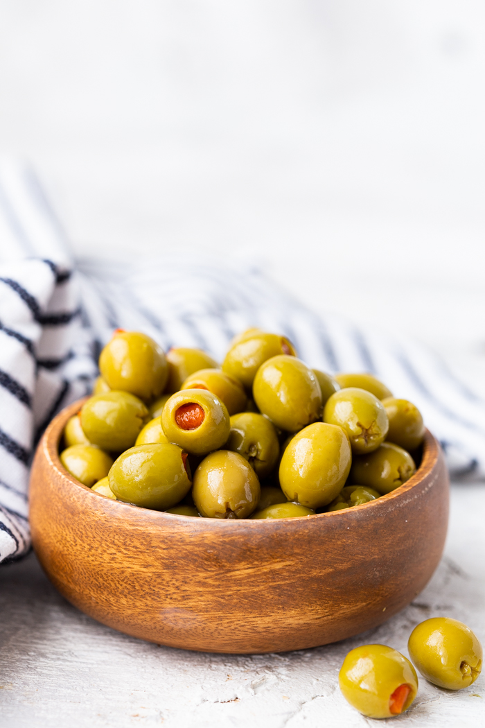Green olives are a great low carb or keto friendly snack
