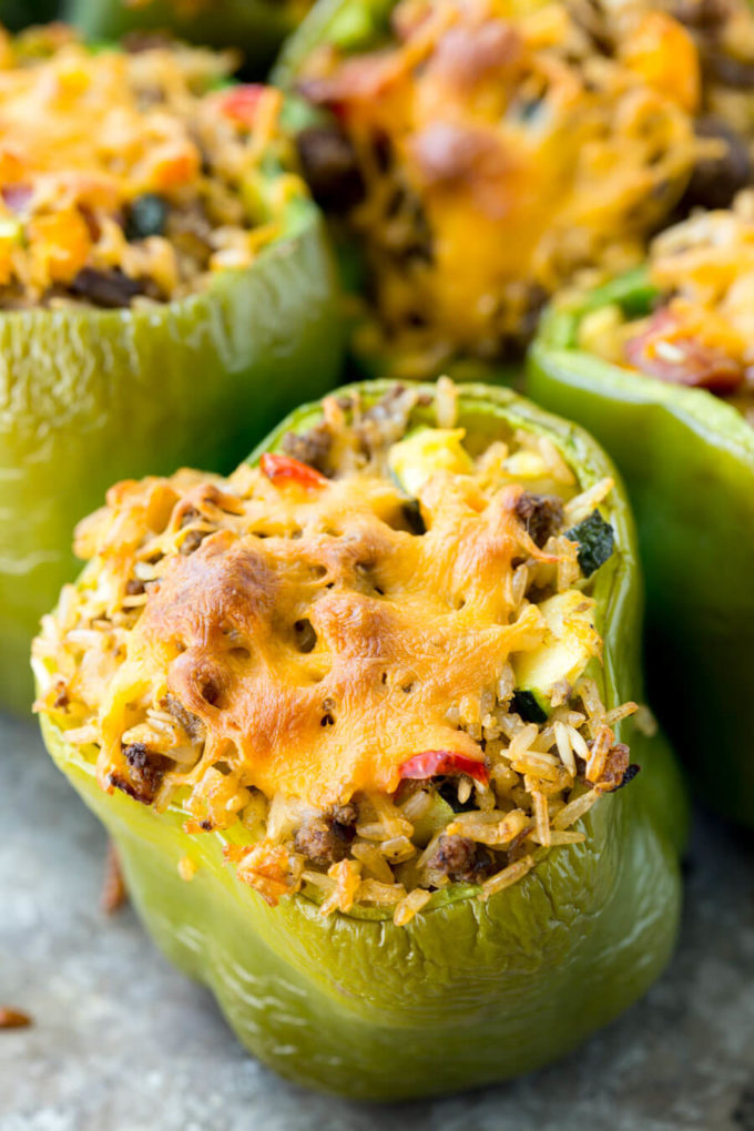easy stuffed peppers hearty stuffed peppers recipe easy peasy meals 30605