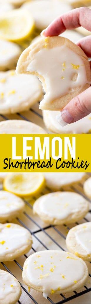 Decadent lemon shortbread cookies, tender shortbread, lemon glaze, and oh so delicious