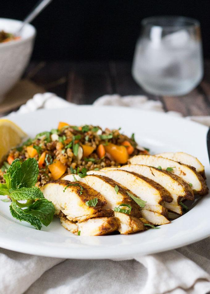 Moroccan Baked Chicken Breast Quinoa Salad Easy Peasy