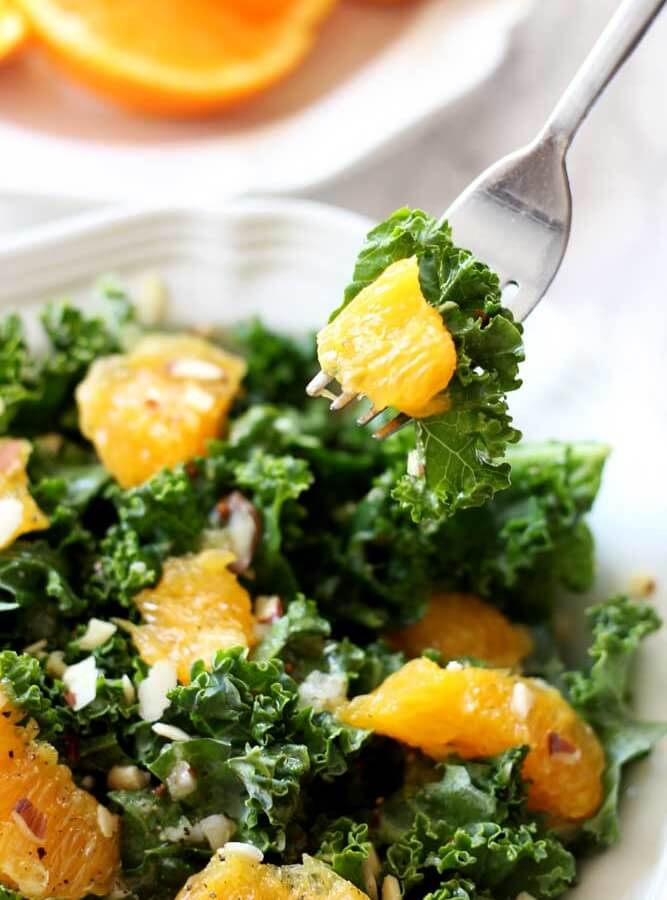 Navel Orange And Kale Salad