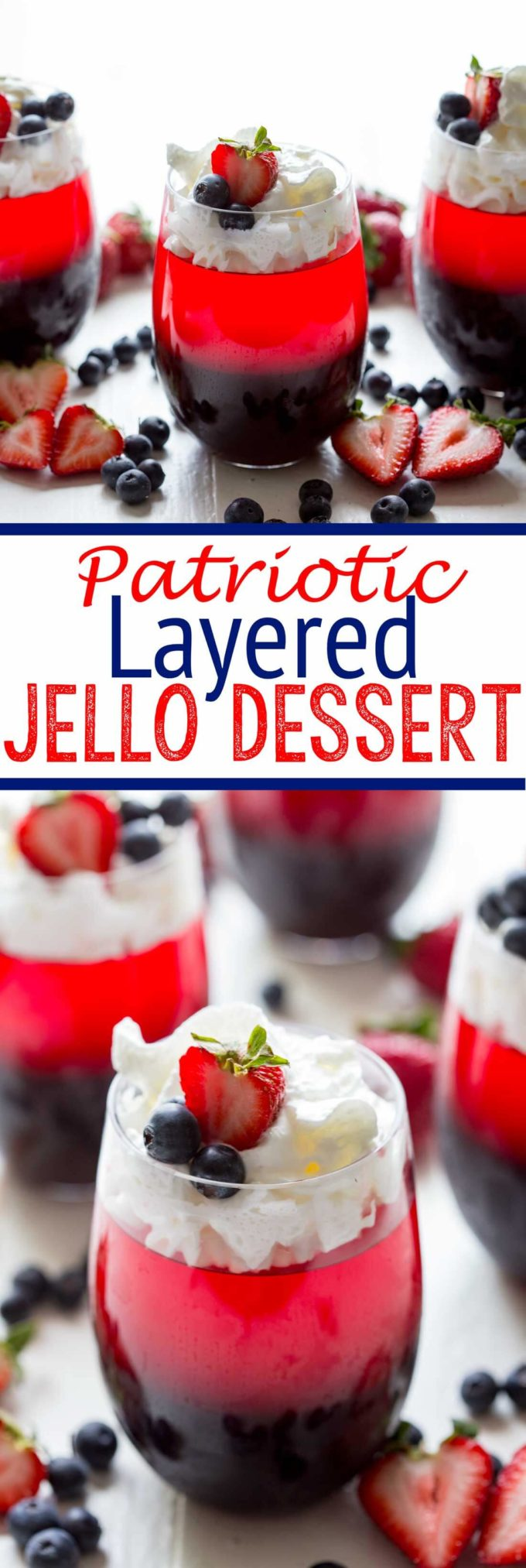 A layered patriotic jello dessert that is as tasty as it is easy to make!