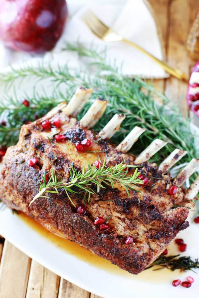 Roasted Rack of Pork, a perfectly roasted pork rack for a great holiday meal