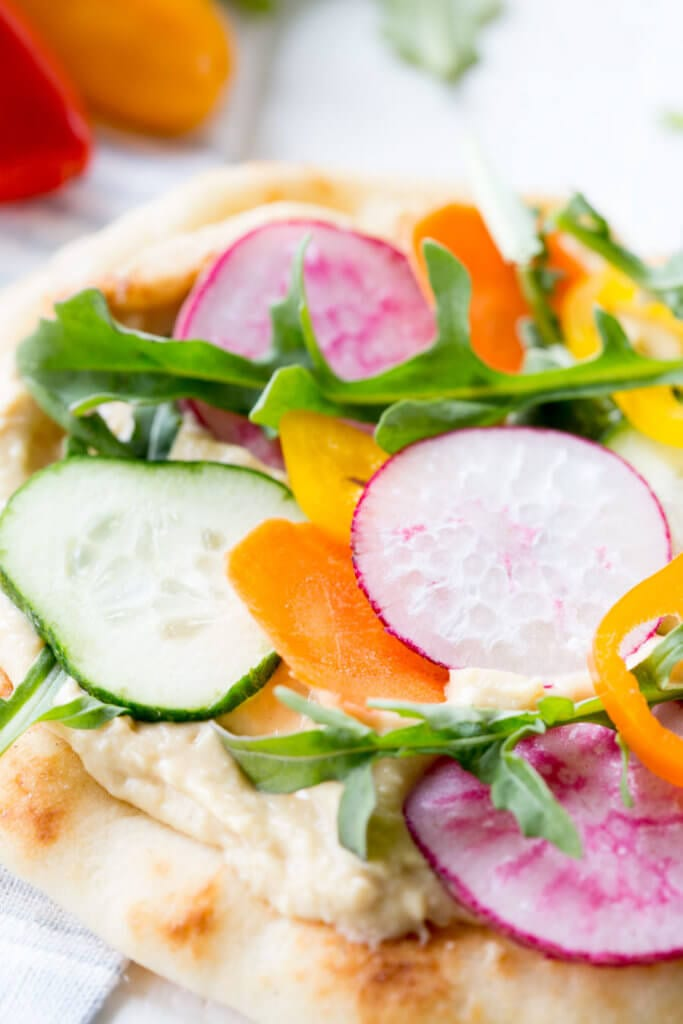 Vegetable Hummus Flatbread