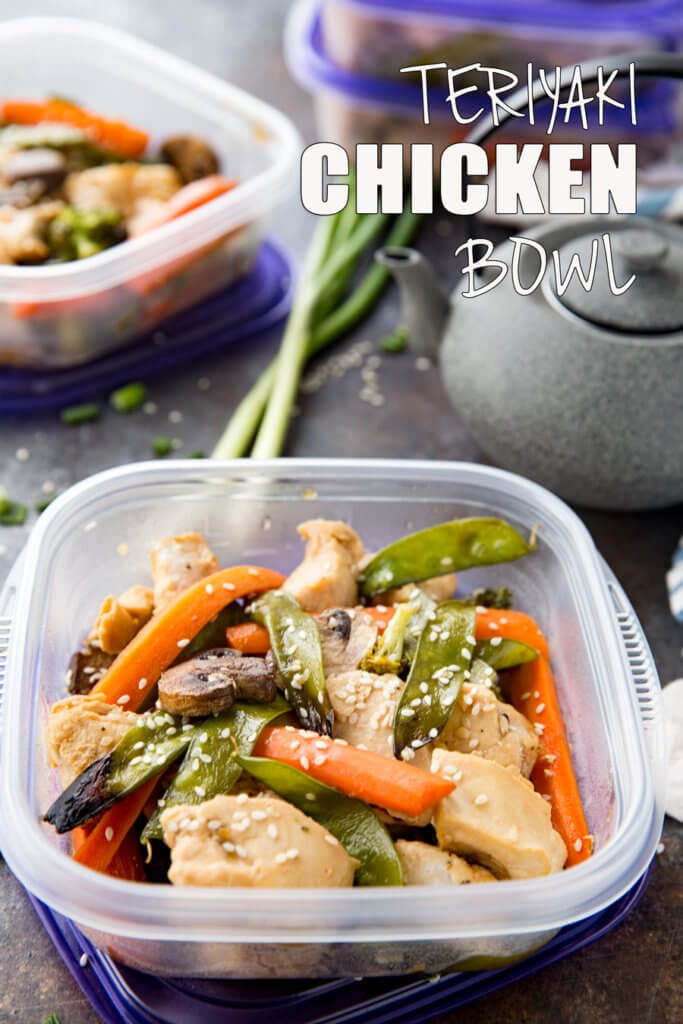 Teriyaki Chicken Bowls made for meal prep