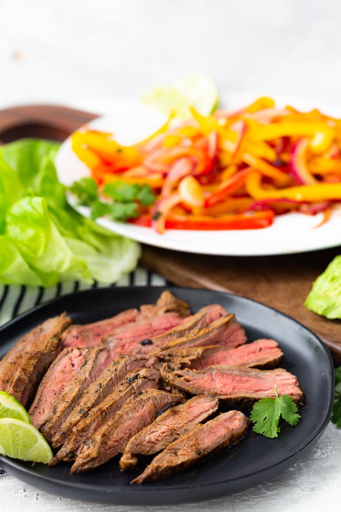 ingredients for steak fajita lettuce wraps