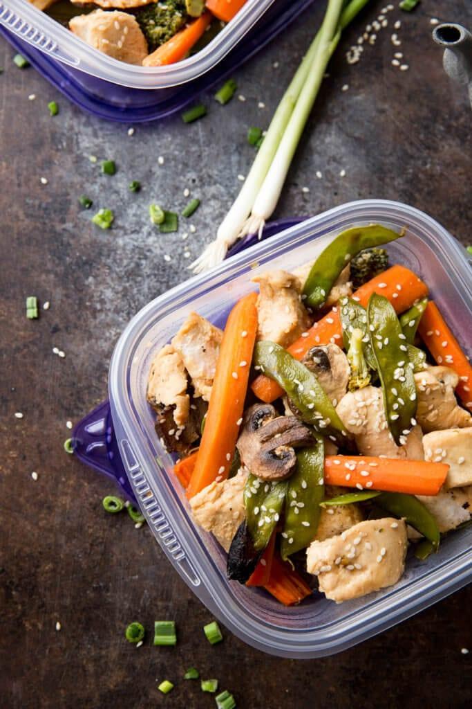 Easy to make teriyaki chicken meal prep bowls