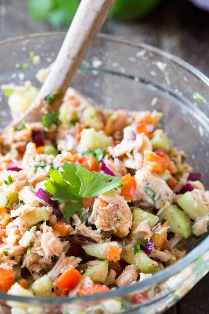 Thai tuna salad. An excellent tuna salad with thai inspired flavors