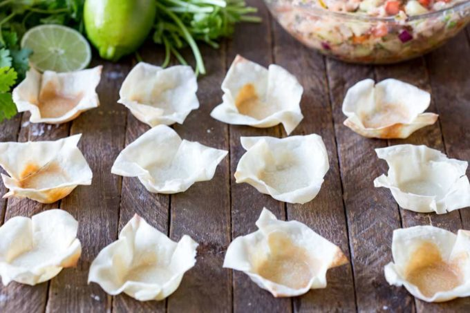 Wonton wrappers become the perfect cups for appetizers