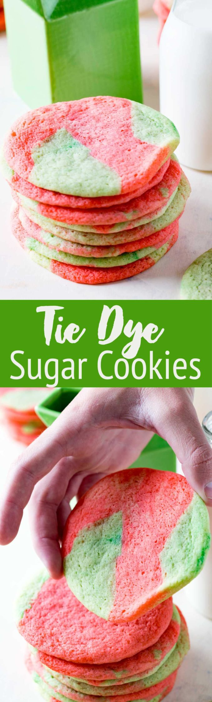 Tie Dye Sugar Cookies are a fun twist on a classic sugar cookie that can be customized for the holiday.