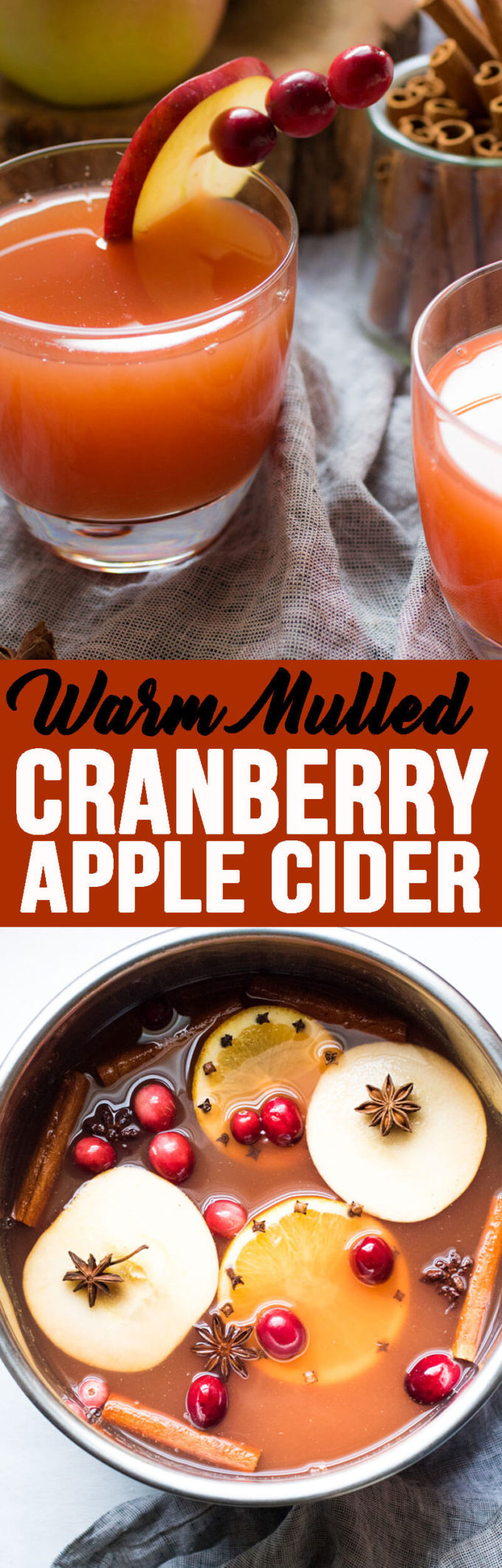 Warm Mulled Cranberry Apple Cider - Eazy Peazy Mealz