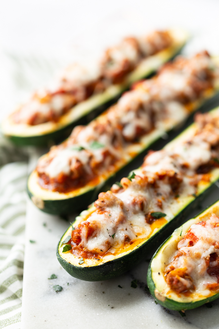 Beef Stuffed Zucchini Boats Low Carb Easy Peasy Meals