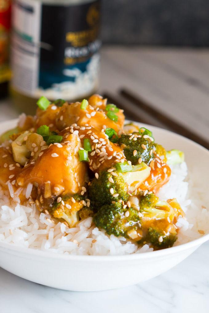 Honey Sesame Chicken with Broccoli