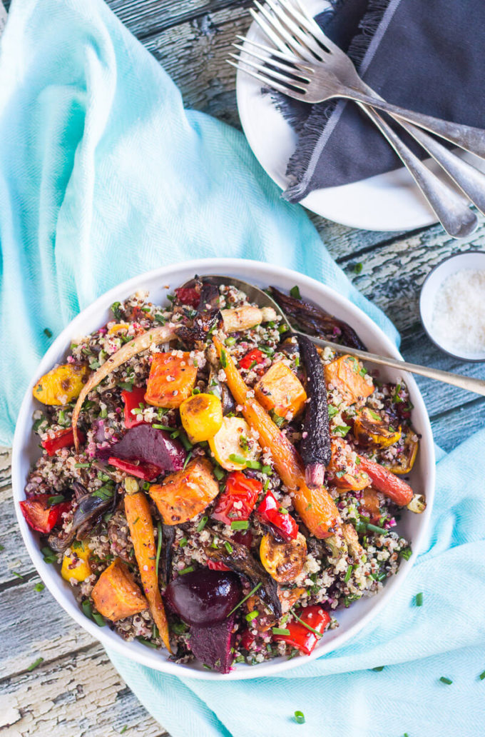 Quinoa and Roasted Vegetable Salad In content #1