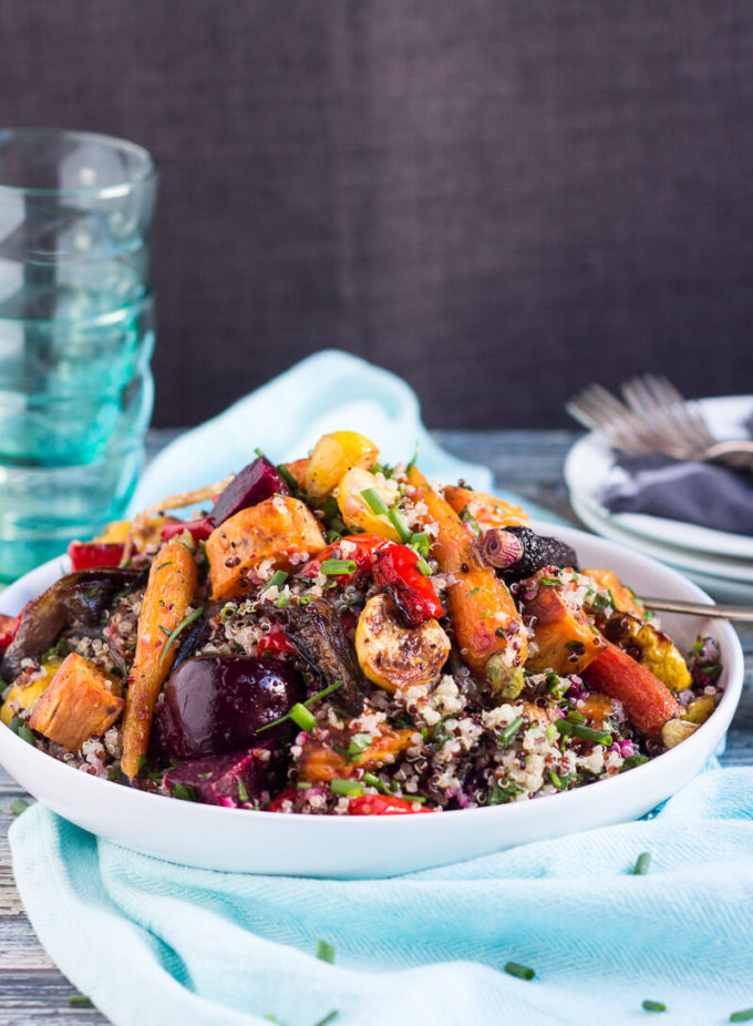 Easy To Make In Advance And Highly Portable This Quinoa And Roasted Vegetable Salad Is Perfect For Picnics And Potlucks Great As A Vegetarian Main Or A