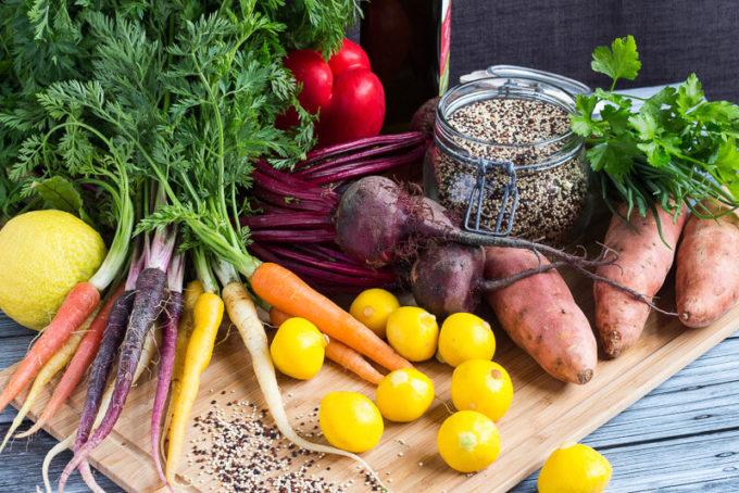 Roasted Vegetable Salad ingredients