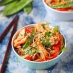 Salmon soba noodles