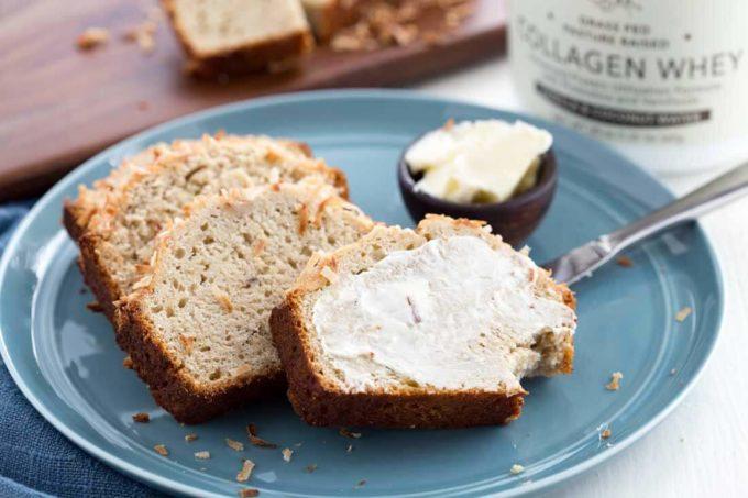 Coconut vanilla banana bread, easy banana bread, delicious and simple to make