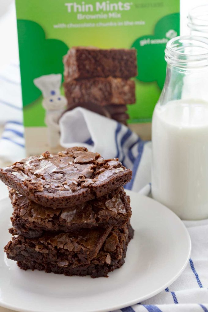cookies in brownie form. Rich chocolate brownies with hints of mint ...