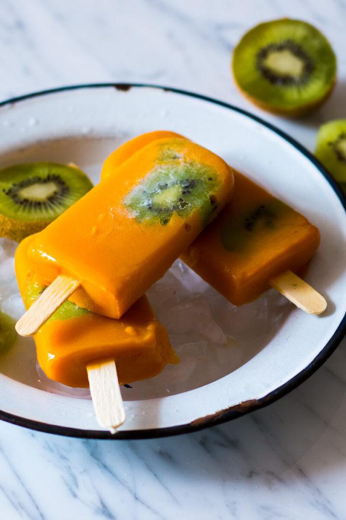 Mango Kiwi Popsicles