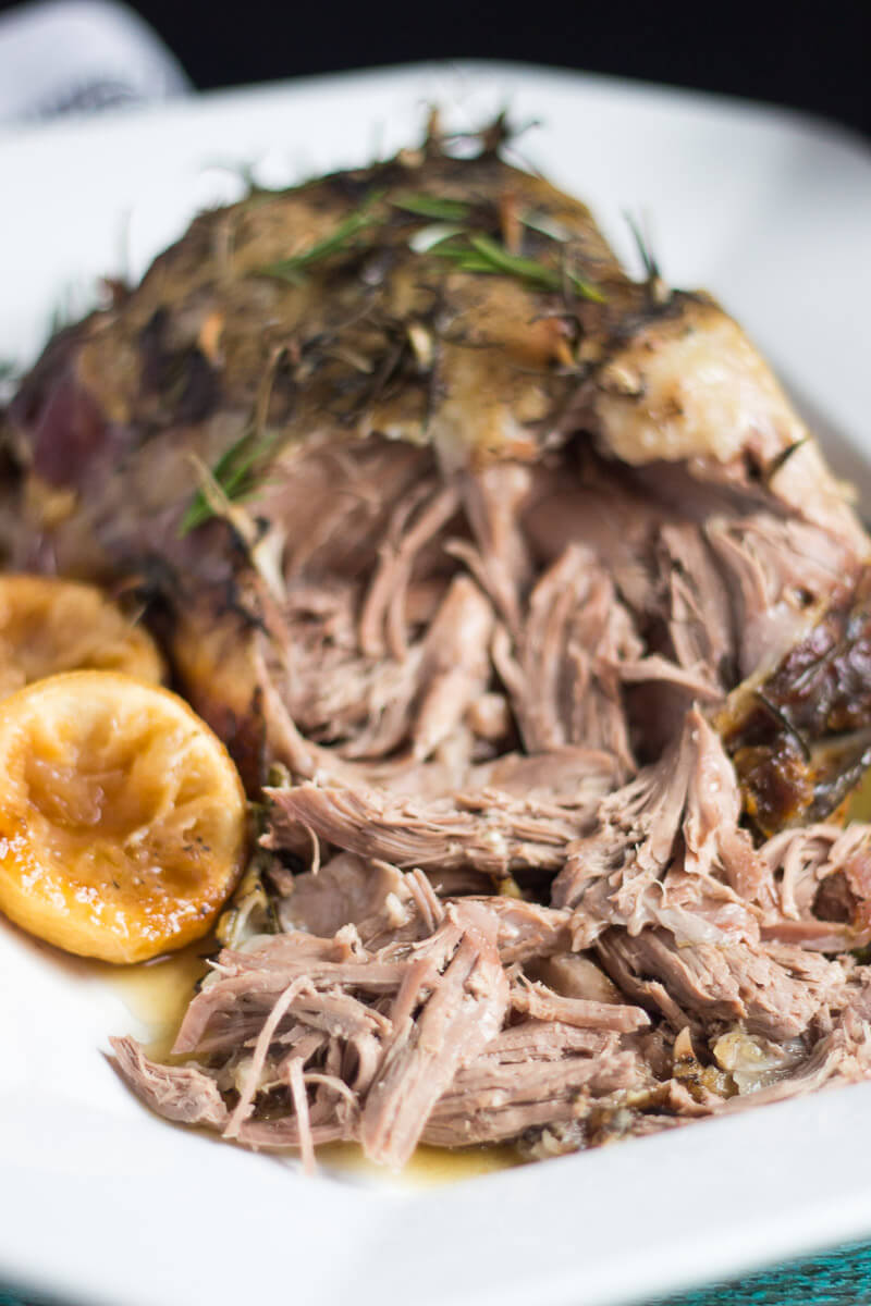 Slow Cooker Roast Lamb with Lemon, Rosemary & Garlic
