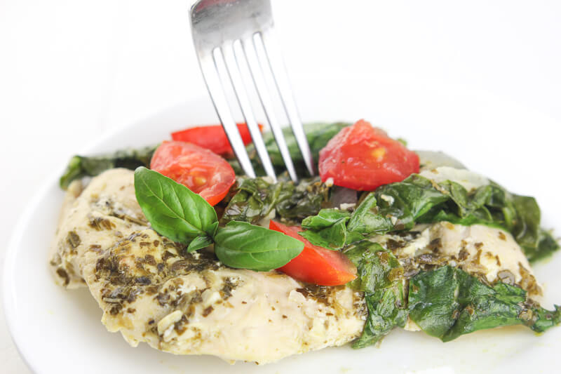 ... and creating this Spinach Tomato Pesto Chicken is just one example