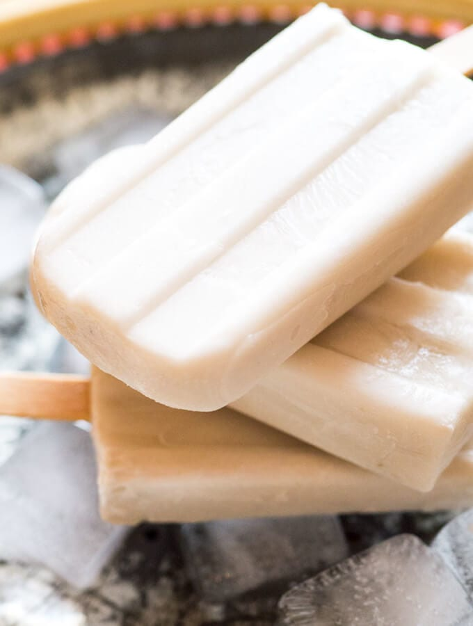 Jasmine Tea and Coconut Popsicles