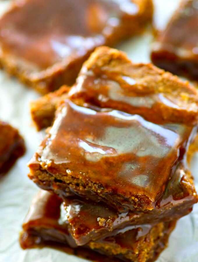 Flourless Peanut Butter Caramel Bars