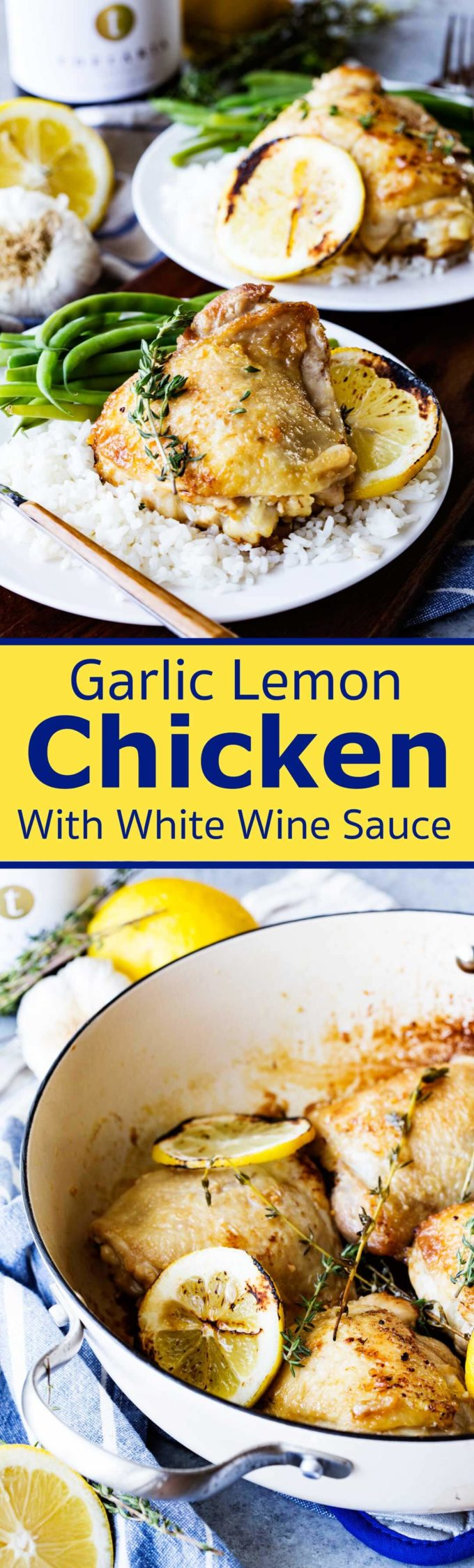 Skillet Garlic Lemon Chicken with White Wine Sauce is a restaurant quality meal.