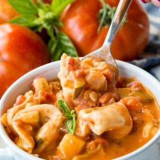 Creamy Tomato Basil Tortellini Soup is hearty and full of tantalizing flavors
