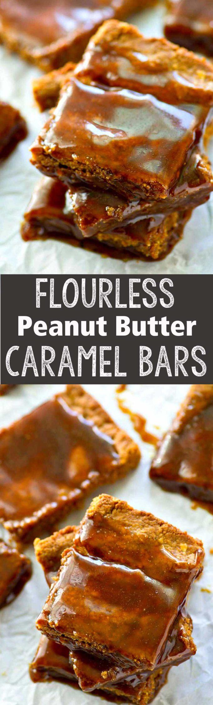 Flourless peanut butter caramel bars are the best tasting dessert ever ...