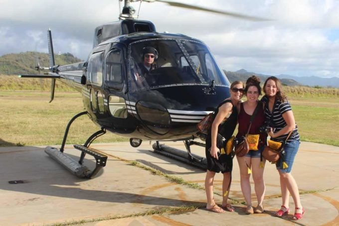 Take a helicopter ride on Kauai