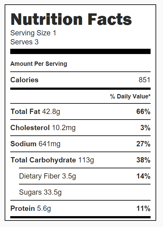 Mummy Apple Hand Pies Nutrition Facts