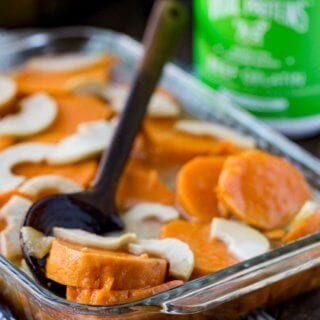 Thanksgiving yams with a protein glaze