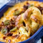 Baked jalapeno cheddar bacon cheese dip