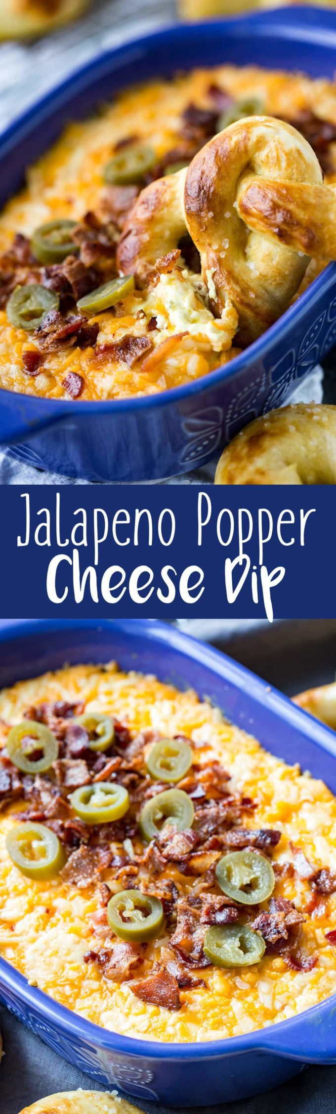 Baked jalapeno cheese dip
