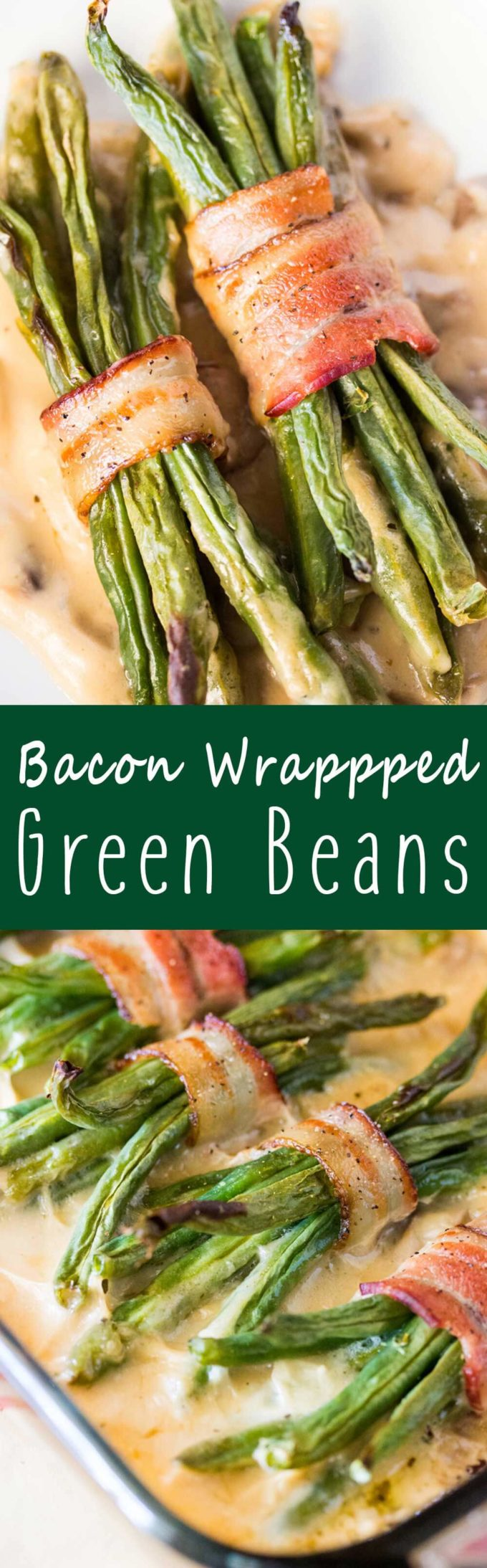 Bacon wrapped green bean bundles are a MUST for your Thanksgiving table!