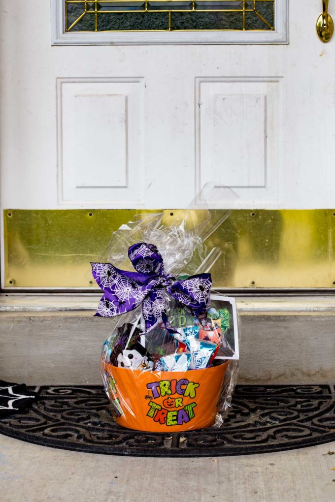 A Halloween BOO bundle right outside your door