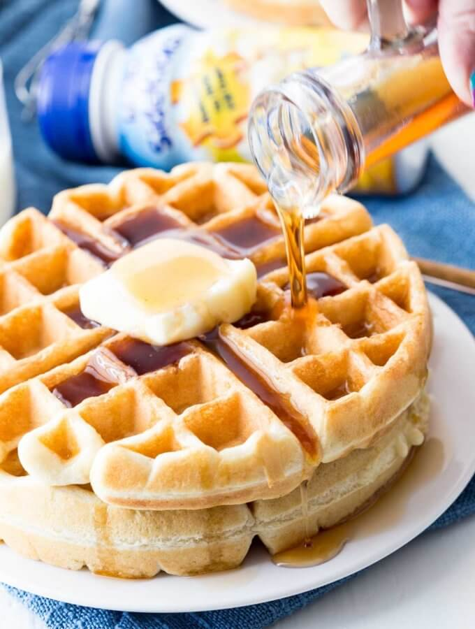 A classic waffle recipe with a kid friendly twist