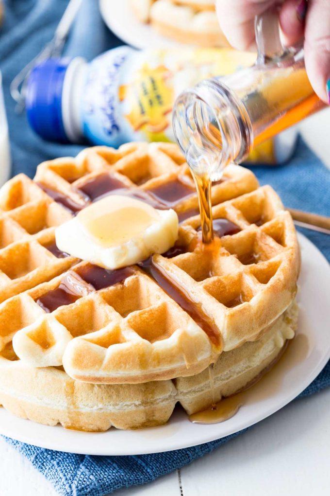 A classic waffle recipe with a kid friendly twist
