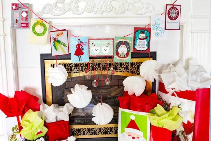 Card Banner decorating for Christmas