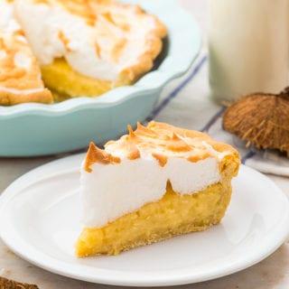 Coconut Cream pie with a perfect meringue
