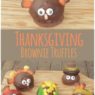 Thanksgiving Brownie Truffles