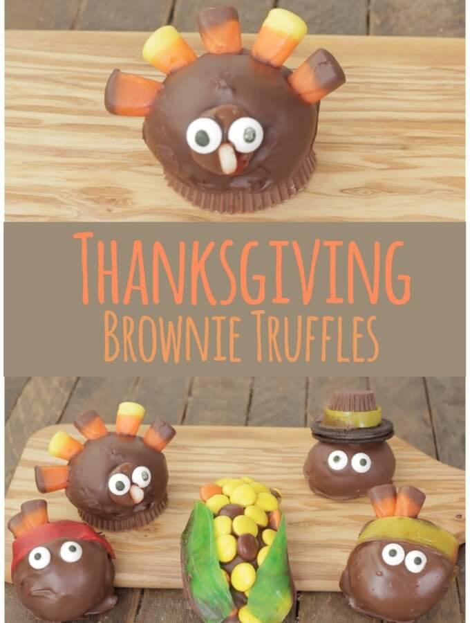 Thanksgiving Brownie Truffles