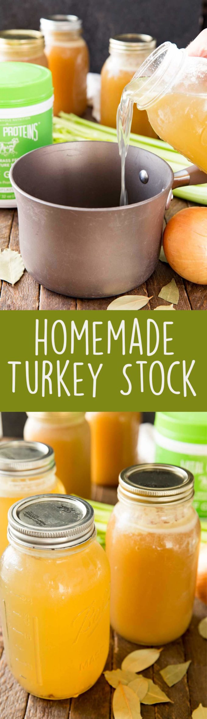 How to make homemade turkey stock to be frozen and used all year